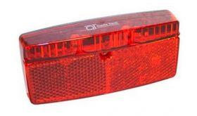 """Zadní světlo QT Cycle Tech """"360"""" odrazka na nosič 2led bat."""