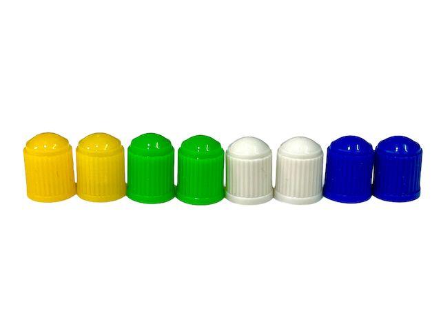 Čepička ventilku barevná AV ventilek plastová 2ks žlutá Velo