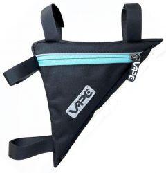 Brašna Vape do rámu malý trojůhelník 2x kapsy 2x zip surf blue