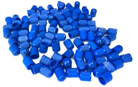 Čepička ventilku barevná AV ventilek plastová 2ks modrá Velo