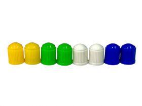 Čepička ventilku barevná AV ventilek plastová 2ks modrá