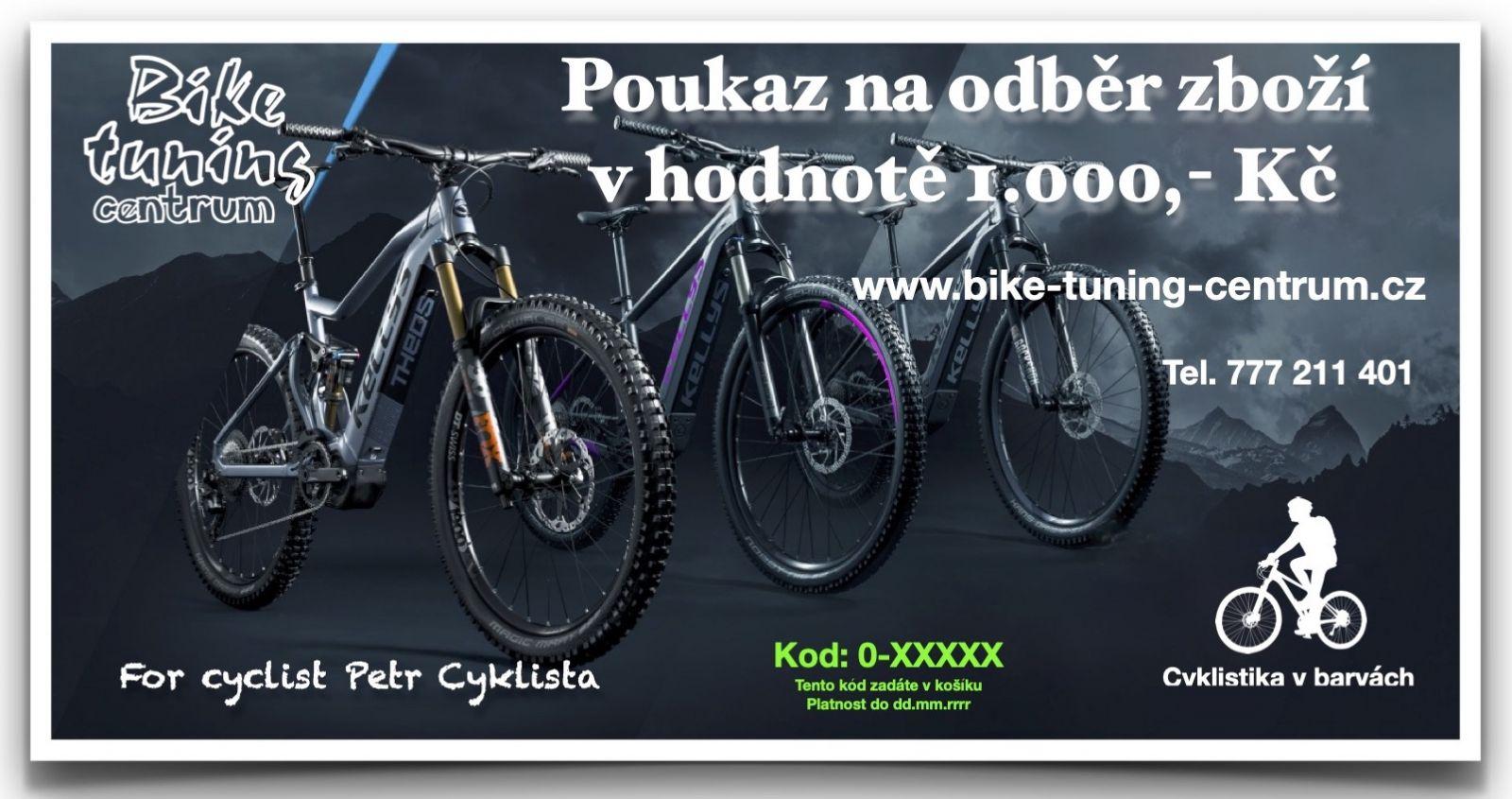 Dárkový poukaz v hodnotě 1.000,- Kč Bike tuning centrum