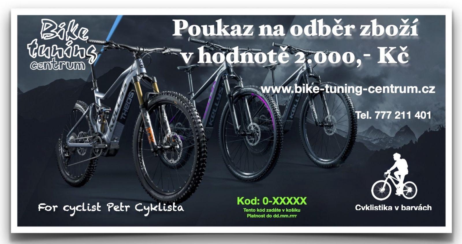 Dárkový poukaz v hodnotě 2.000,- Kč Bike tuning centrum