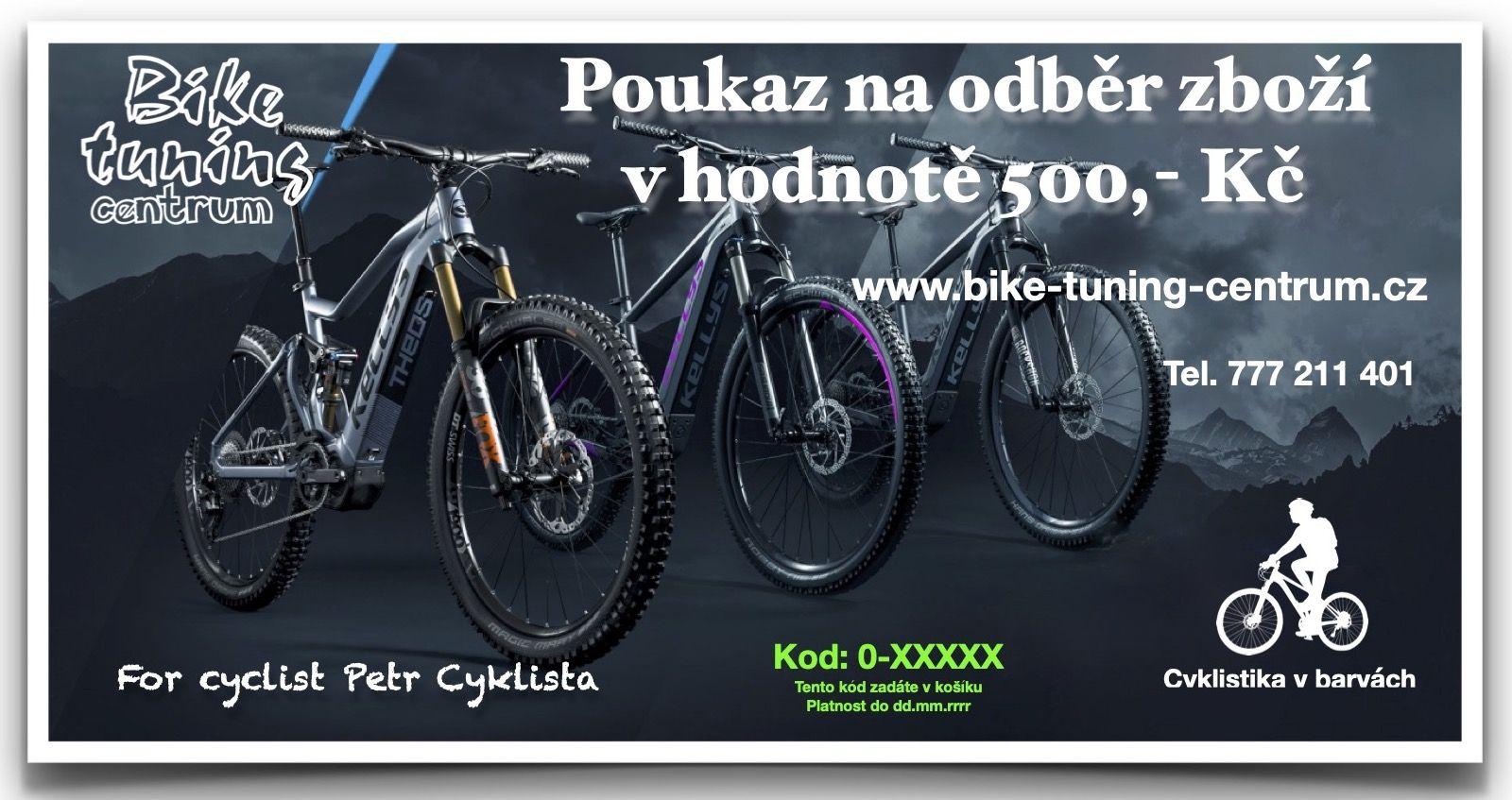 Dárkový poukaz v hodnotě 500,- Kč Bike tuning centrum