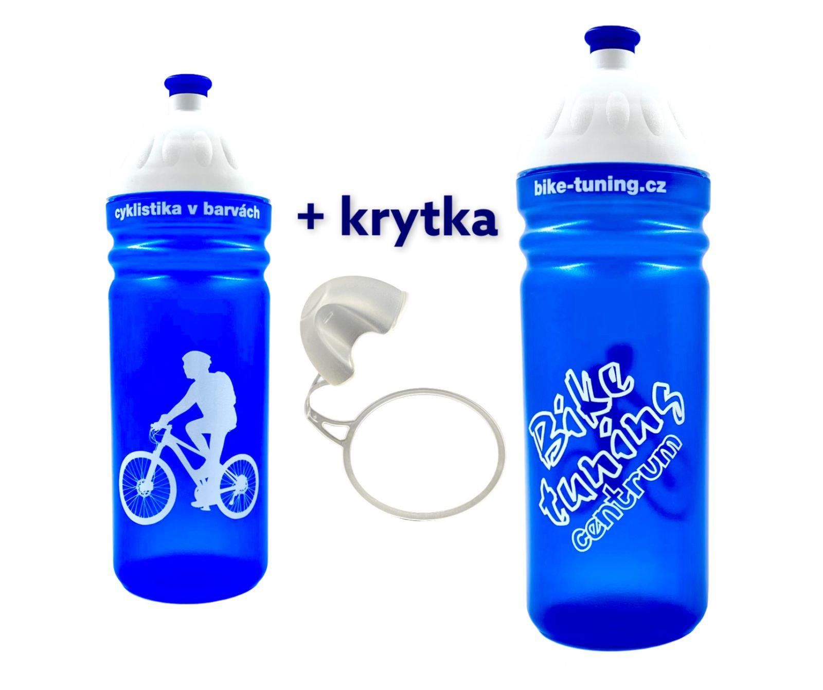 Láhev R&B 0,7L Bike tuning centrum transparent modrá + krytka