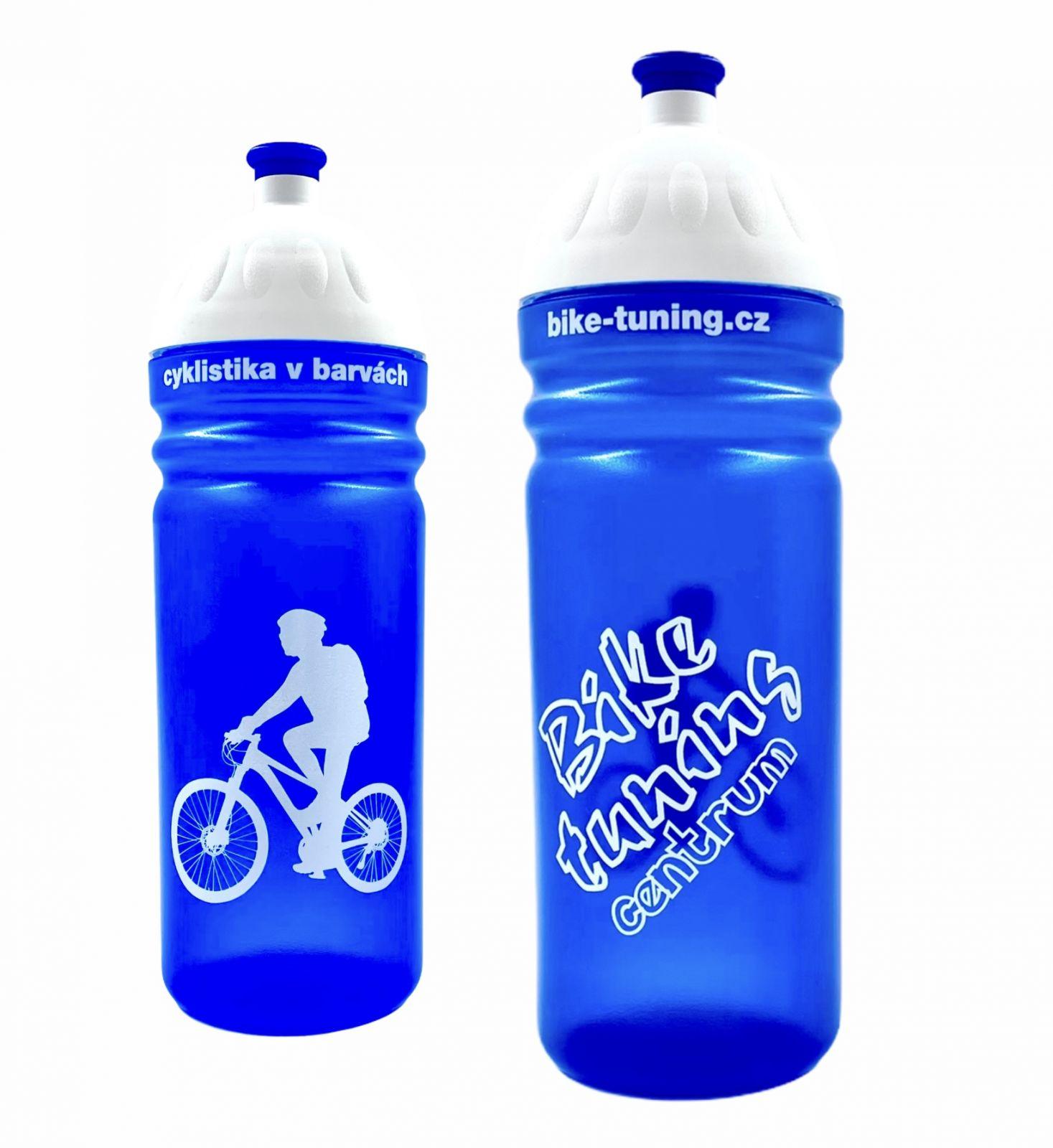 Láhev R&B 0,7L Bike tuning centrum transparent modrá