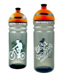 Láhev R&B 0,7L Bike tuning centrum Transparent oranžová 2K víčko