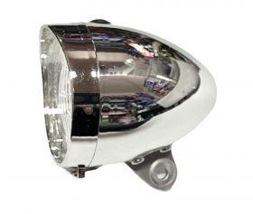 Světlo přední Dema 3 led s odrazkou + 3x baterie AAA chrom