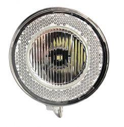 Světlo přední SWINGO 1 SMD LED chrómové 3x baterie odrazka Dema