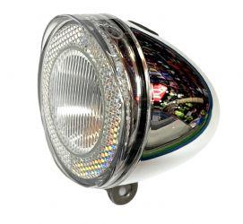 Světlo přední SWINGO 1 SMD LED chrómové 3x baterie odrazka