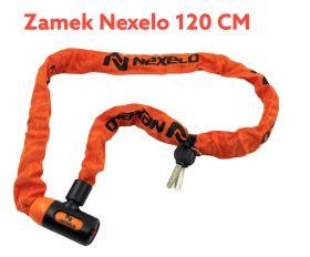 Zámek Nexelo řetez 120 cm článek průměr 6mm oranžový