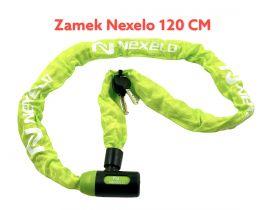 Zámek Nexelo řetez 120 cm článek průměr 6mm zelený