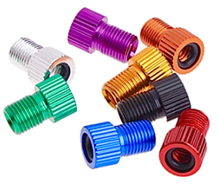 Redukce ventilku FV přechod na AV ventilek AL elox 1ks fialová Velo