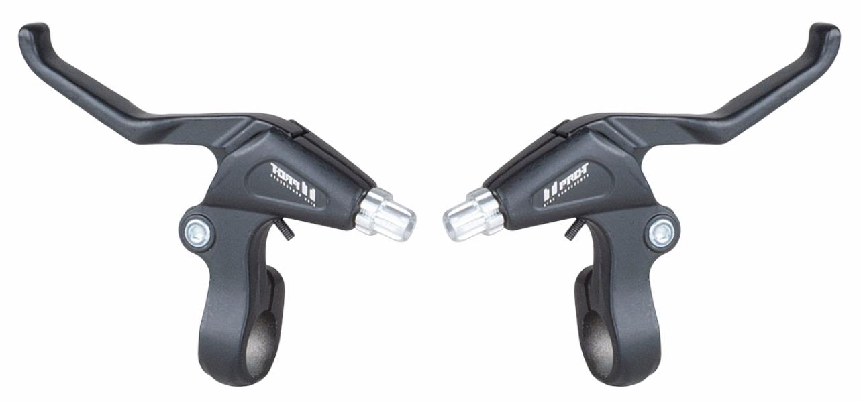 Brzdové Páčky Pro-t 14210 V-brake 2 prsté dural P+Z černé