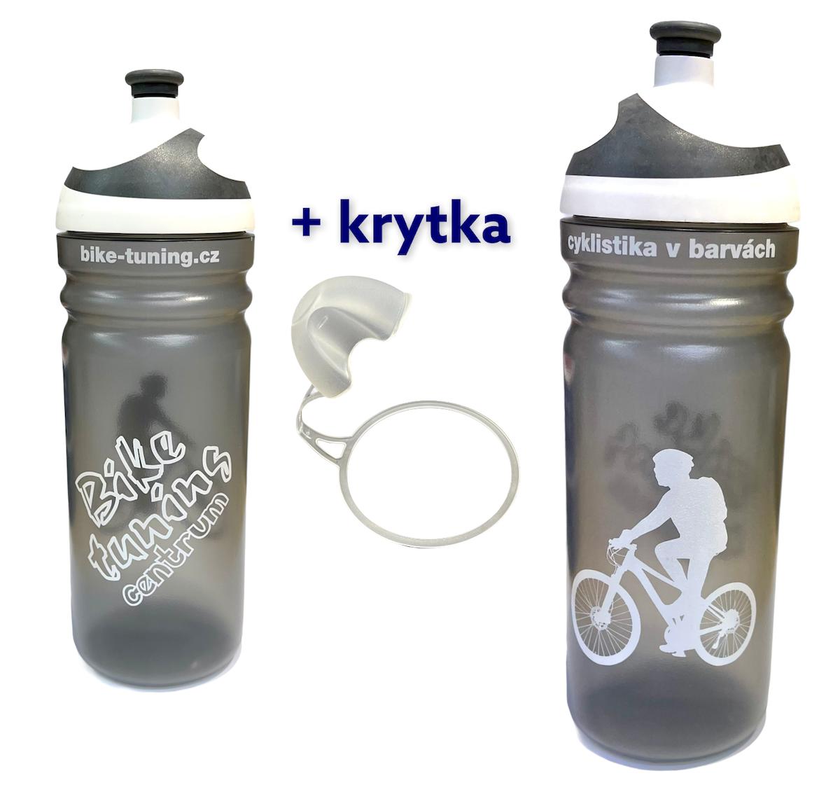 Láhev R&B 0,7L Bike tuning centrum Transparent bílé 2K víčko + krytka
