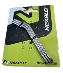 Montpáčky Nexelo ocel sada 3 ks stříbrné
