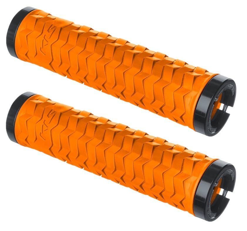 Rukojeti KLS POISON lock on orange tiger Kellys