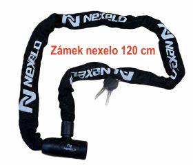Zámek Nexelo řetez 120 cm článek průměr 6mm černý