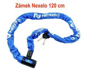 Zámek Nexelo řetez 120 cm článek průměr 6mm modrý