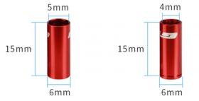 Koncovka Bowdenu GUB řadící elox 4mm 1ks červená Bike tuning centrum