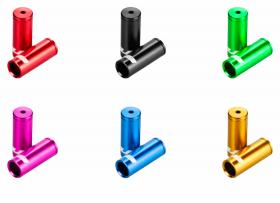 Koncovka Bowdenu GUB brzdová elox 5mm 1ks cervená