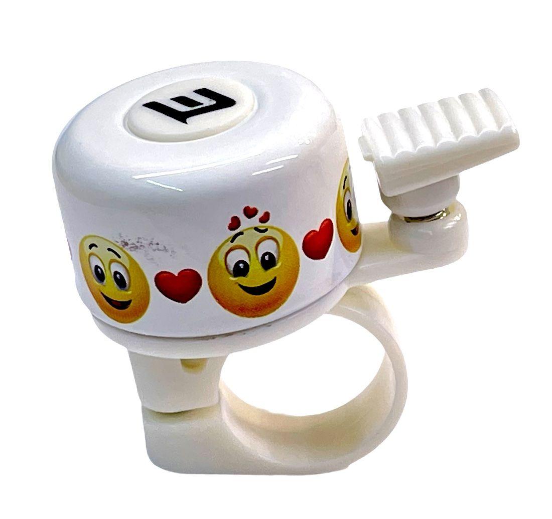 Zvonek Extend na jízdní kolo smiles bílá Pro-T