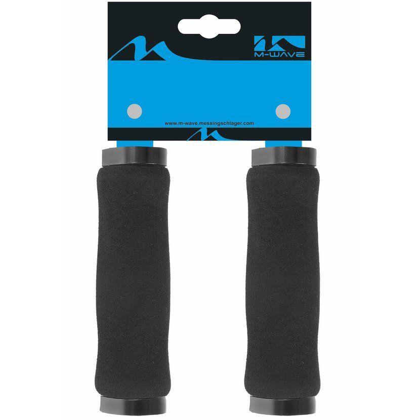 Gripy M-wave pěnové130mm jištěné 2x objímka černé