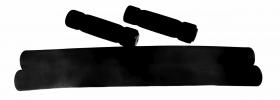 Návleky na bullhorny + pěnové gripy délka 38cm 2+2ks černé