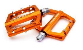 """Pedály Nexelo AL CNC CR-MO """"Y"""" průmyslová ložiska oranžová"""