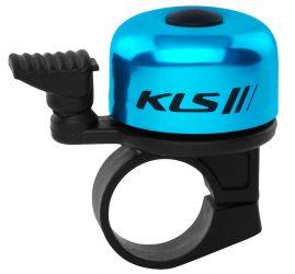 Zvonek KLS Bang 10 na jízdní kolo modrý elox
