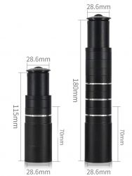 Adaptér nástavec A-head 28,6 / 28,6 prodloužení 115 mm černý