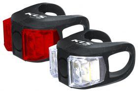 Světla KLS TWINS set přední a zadní blikačka 2ks 2Led 2f black