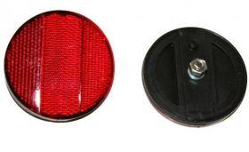 Odrazka červená zadní kulatá na šroub