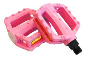 Pedály Nexelo plast kuličkové dětské standart velký závit 9/16 růžové