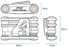 Multiklíč CROPS SMARTSAVER EX 8 Funkcí černý