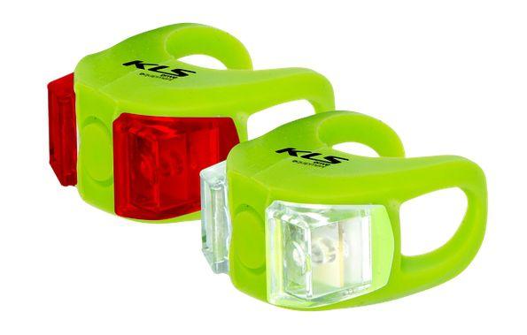 Světla KLS TWINS set přední a zadní blikačka 2ks 2Led 2f green