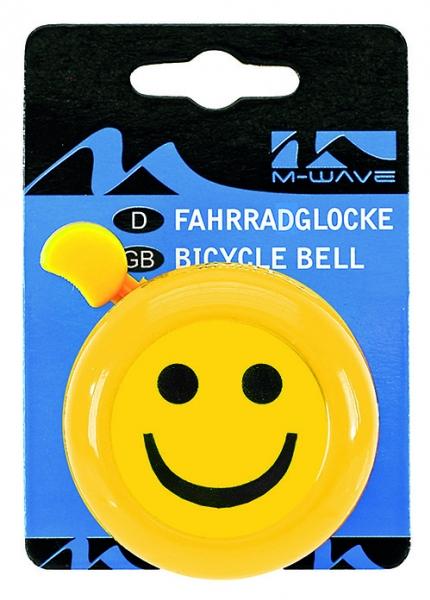 Zvonek Smiles klasik M-wave na jízdní kolo žlutá