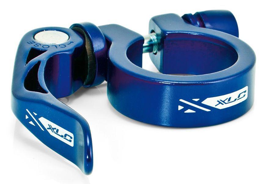 Objímka sedlovky XLC 31,8 mm PC-L04 s rychloupínákem modrá