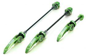 Rychloupínák XLC QR-L05 Elox P+Z+sedlovkový set 3ks zelený