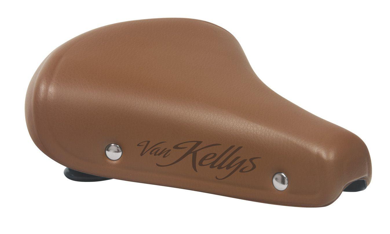 Sedlo KLS Van Kellys luxusní gelové city s pružiny hnědé