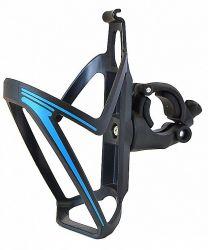 Košík na láhev Nexelo klip na řídítka otočný 360 černo modrá