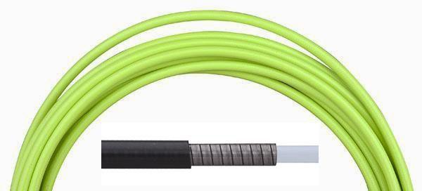 Bowden brzdový Aligator LY-220 5 mm teflon 1 m barevný zelený