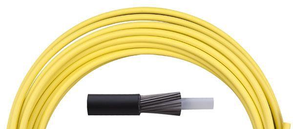 Bowden řadící Aligator LY-166 4 mm teflon 1 m barevný žlutá