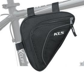 Brašna do rámu KLS Wedge 3M reflexní 0,9 L black