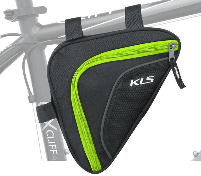Brašna do rámu KLS Wedge 3M reflexní 0,9 L lime Kellys