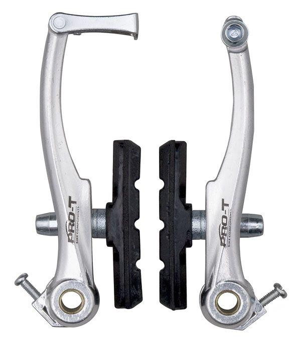 Brzdy Brzdové čelisti Pro-T V-brake dural EVO P+Z stříbrné
