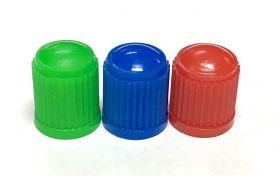 Čepička ventilku barevná AV ventilek plastová 1ks červená
