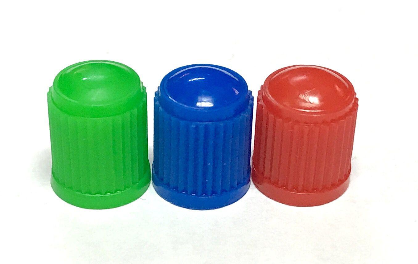 Čepička ventilku barevná AV ventilek plastová 1ks červená Velo