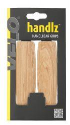 Gripy Velo motiv dřeva 130mm světle hnědé