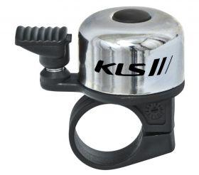 Zvonek KLS Bang na jízdní kolo stříbrná